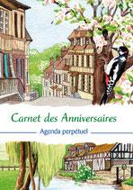 Carnet des anniversaires - Nouvelles aquarelles : Les plus beaux villages de France !