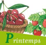 Magnet 4 saisons Fruits & légumes Printemps