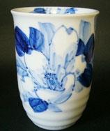 フリーカップ 染付山茶花