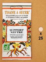 TISANE À SUCER SUPPORT NEUTRE 25 BIOPASTILLES 25 g