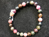 BRACELET TOURMALINE MULTICOLORE 7-7,5 MM
