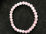 BRACELET QUARTZ ROSE 6 MM