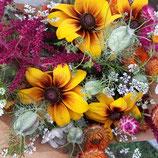 Boeket blije bloemen