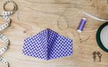 Nasen-Mund-Bedeckung DREIECKE lila