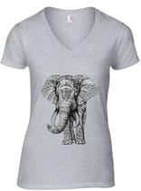 T-Shirt afrikanischer Elefant (A88VL)