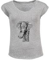 T-Shirt afrikanischer Elefant (L158)