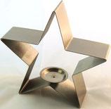 Stern aus Edelstahl als Teelichthalter