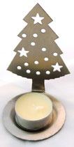 Tannenbaum aus Edelstahl Teelichthalter V3