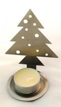 Tannenbaum aus Edelstahl Teelichthalter V2