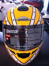 G-MAC Helm gelb / weiss