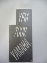 Kühlergrilleinsatz komplett mit Totenkopf  Yamaha 700 R