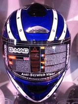 G-MAC Helm blau / weiss