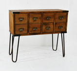 Storage Console Table in Walnut or Grey