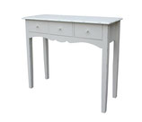 Victoria Console or sofa Table in antiqure White