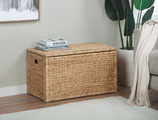 Heavy-duty Water Hyacinth Storage Trunk, Natural