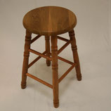 "22"" Solid Oak Counter Stool - Turned Legs"