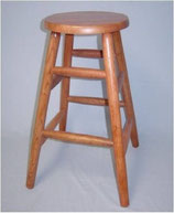 Solid Oak Counter Stool Round Legs
