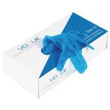 Gants alimentaires en vinyle bleus poudré ou non poudré par 100pc