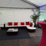 Canapé lounge modulable 7/8 personnes avec coussins