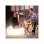 Pouf gonflable rond lumineux