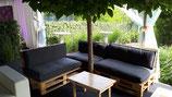 Table basse en bois claire