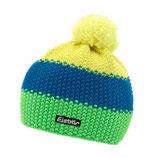 Eisbär Mütze Star Neon Pompon, Farbe grün-blau-gelb
