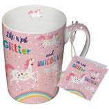 Becher/Tasse 'Glitter&Unicorns'