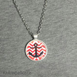 Anker Rot/Weiß Kette