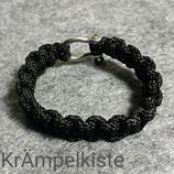 Paracord Armband schwarz