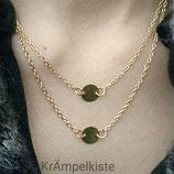 Doppelschicht Choker Halskette golden