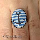 Blauer Anker Ring Groß