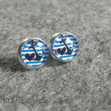 Blue Heart Anker Ring