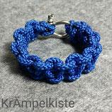 Paracord Armband blau