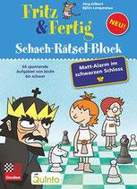 Fritz & Fertig Schach-Rätsel-Block – Mattalarm im schwarzen Schloss