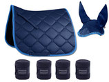 ESPERIA Set Schabracke, Bandagen, Fliegenohren nachtblau DRESSUR