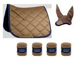 ESPERIA Set Schabracke, Bandagen, Fliegenohren sandbeige/nachtblau  VS