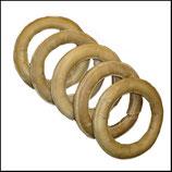 "6"" Pressed Rawhide Ring"