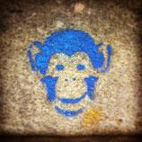 blauer affe