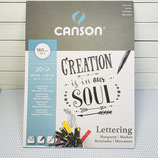 """Letteringblock brillant weiss """"creation is in our soul"""""""