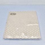 Papierservietten beige mit weissen Punkten