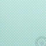 Scrapbookingpapier minthgrün mit grossen Punkten