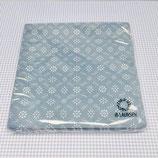 Papierservietten taubenblau 1 mit Müsterli