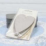 Herzanhänger Karton grau