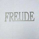 """Schriftzug verzinkt, klein """"FREUDE"""""""