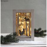 Komplett-Set 3D-Motivrahmen *Wald* inklusive Lichterkette und 3D-Effekt-Folie