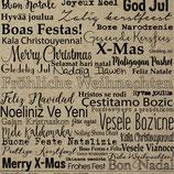 Kraftpapier *Christmas* Papierstücke Design