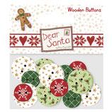 Buttons/Holzknöpfe *Dear Santa*!