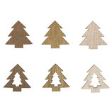Holz-Streuteile Tannenbaum