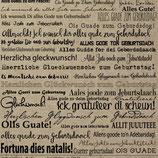 Kraftpapier *Geburtstag* Papierstücke Design