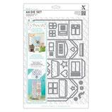 A4 Standschablone Deco Design *Haus* 37-teilig